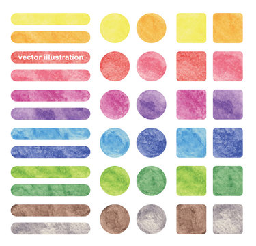 Vector watercolor background sets