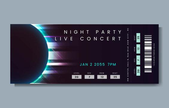 Live concert ticket