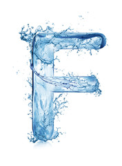 water splashing fonts a to z and 1 to 10