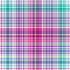 Seamless abstract colorful checkered pink-green-violet-white pattern