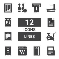 lines icon set
