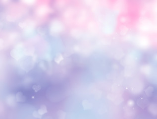 Abstract background blur with hearts