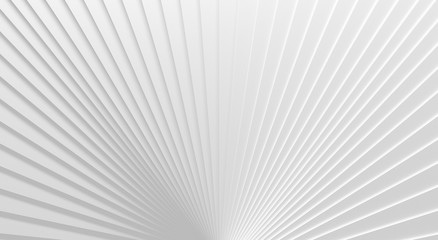 White Radiating Background (3D Illustration)