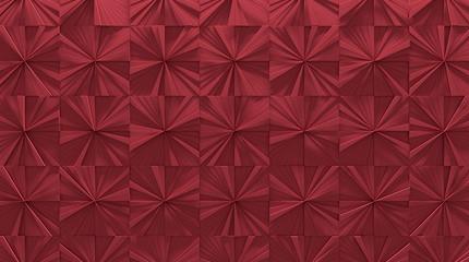 Red Tiled Panel Background (3D Illustration)