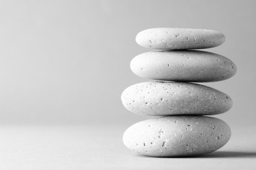 Stack of grey massage stones