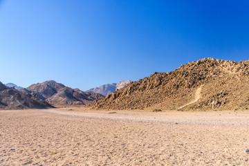 Mountains in arabian desert not far from the Hurghada city, Egypt