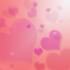 Pink and Red Valentines Day Love Heart Background