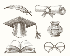 Medieval High School Education Accessories Set