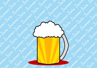 ビール サマーセール背景
