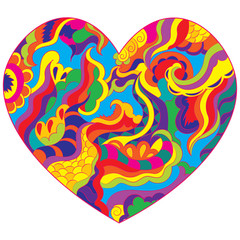 Abstract heart to the day of Saint Valentine. Declaration of love.