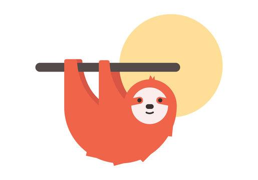 Cartoon sloth logo. Vector image