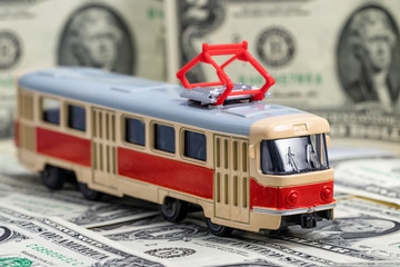 Concept: rise in the cost of public transport