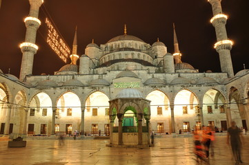 Blue Mosque Istambul at night