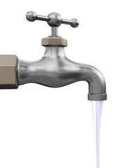Water tap. Image with clipping path