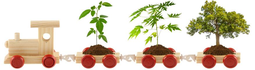 train de l'écologie et de l'environnement