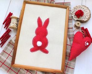 valentines day love heart rabbit