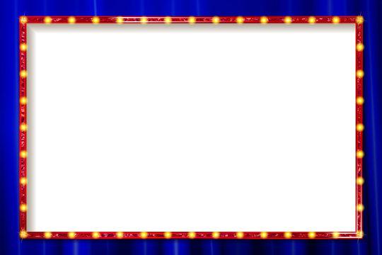 Shining retro rectangular banner.