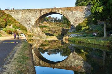 熊本県 秋の通潤橋
