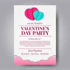 illustration love and valentine's day part poster banner template