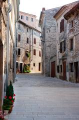 Croatia, Istria, Bale, Old town, empty alley
