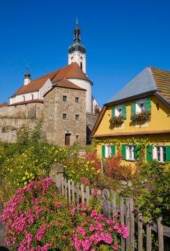Parish Church of the Assumption of the Virgin Mary, Bad Kotzting, Bavarian Forest, Upper Palatinate, Bavaria, Germany, Europe