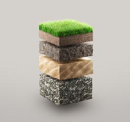 Obraz Ground layers - fototapety do salonu