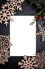 Dark backgroun with postcard frame. Framing