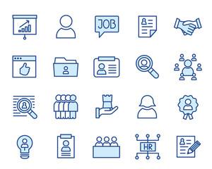 Human Ressource, HR, Bewerbung Vector Icon Illustration Set