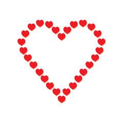Happy Valentine's Day background- vector illustration