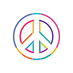 Peace symbol vector illustration