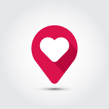 Navigation and heart vector symbol illustration