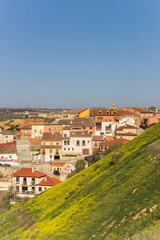 Colorful hill and houses in Toro, Spain