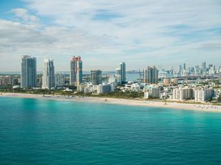 Miami aerials beach scene