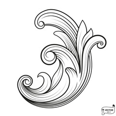 Curls and scrolls ornament for design elements.