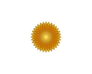 Sun flower icon vector illustration