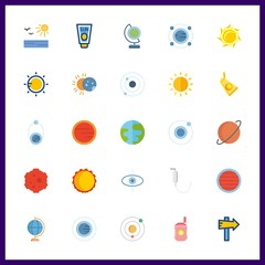 25 solar icon. Vector illustration solar set. solar system and planet icons for solar works