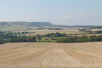 Looking toward Firle, South Downs, East Sussex, UK