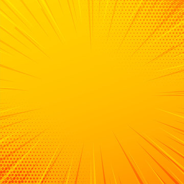 yellow comic zoom lines background