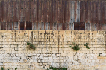 Wall of Old Warehouse, Cospicua, Malta