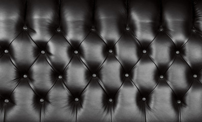 Black leather capitone background texture