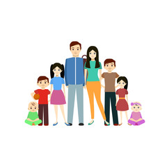 Cartoon Young Character Man and Woman. Vector