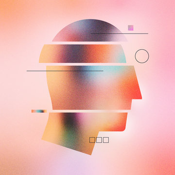 Abstract Human Head Infographic Illustration