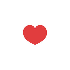 Red heart in the center on a white background