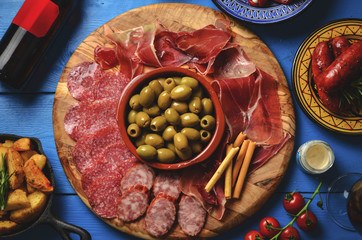 Spanish tapas table