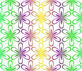 Decorative Ornament With Floral Pattern. Seamless. Vector illustration