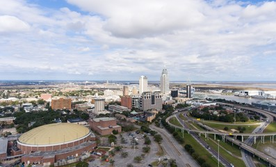 Aerial view of downtown Mobile, Alabama