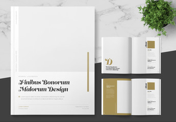 Lookbook Magazine Layout with Gold Accents