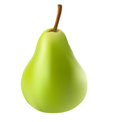 Vector Illustration of A Green Pear. Gradient Mesh. EPS10