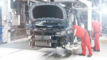 Fototapeta Produkcja Samochodów - Przemysł - Linia produkcyjna obraz