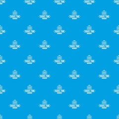 Travel bags pattern vector seamless blue repeat for any use